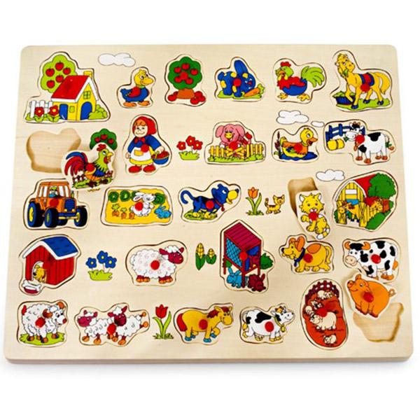Drvena Velika Slagalica- Farma 4556A1 - ODDO igračke
