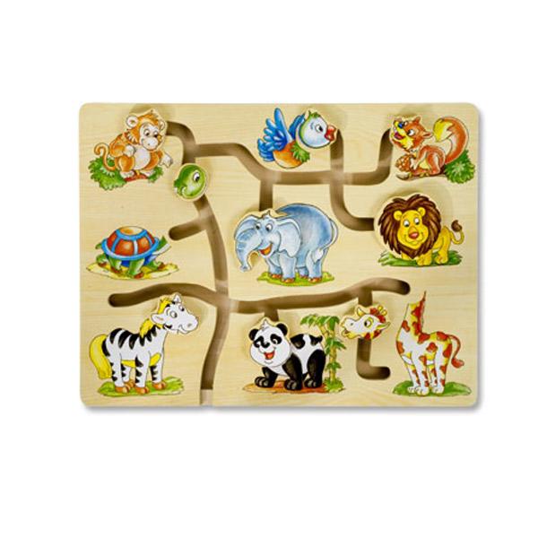 Drvena Slagalica Lavirint - Džungla 4588-1 - ODDO igračke