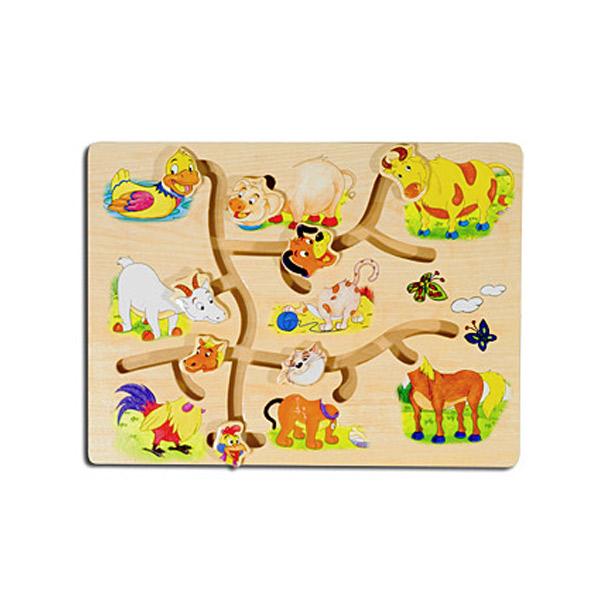 Drvena slagalica Lavirint- Farma 4588-2 - ODDO igračke