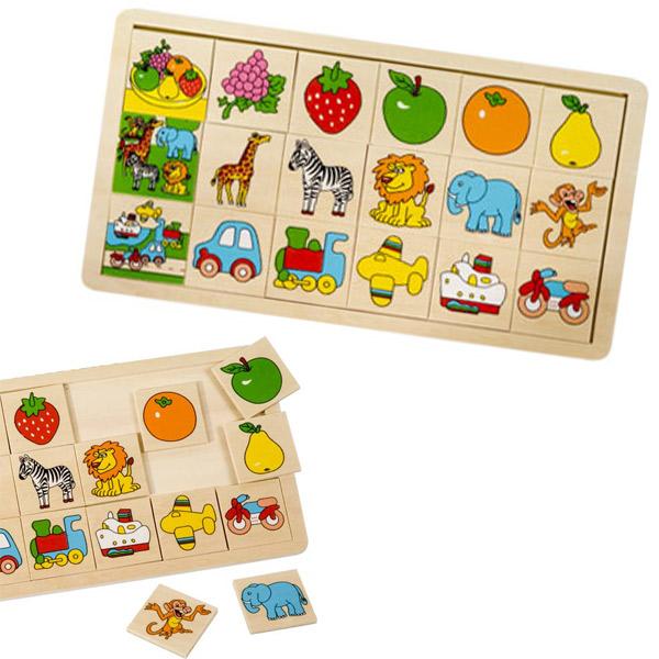 Drvena slagalica- 3 teme 4792 - ODDO igračke