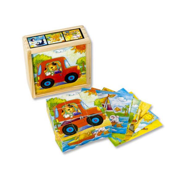 Drvene kocke- Vesele Životinje 4413S1 - ODDO igračke