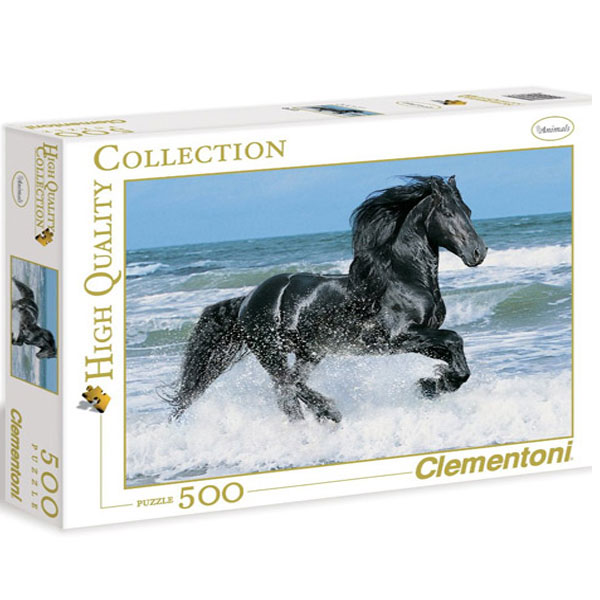 Clementoni Puzzla Black horse 500 pcs 30175 - ODDO igračke