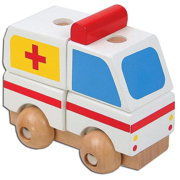 Drvena Hitna pomoć Mini 3D puzzle 7586-1 - ODDO igračke