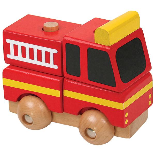 Drveni auto Vatrogasac Mini 3D puzzle 7586-2 - ODDO igračke