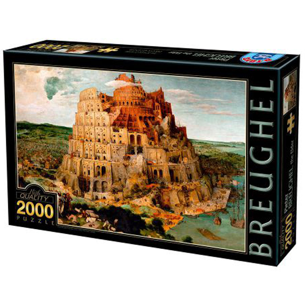 DToys puzzle The Tower of Babel, Breughel the Elder 2000 pcs 07/72900-01 - ODDO igračke