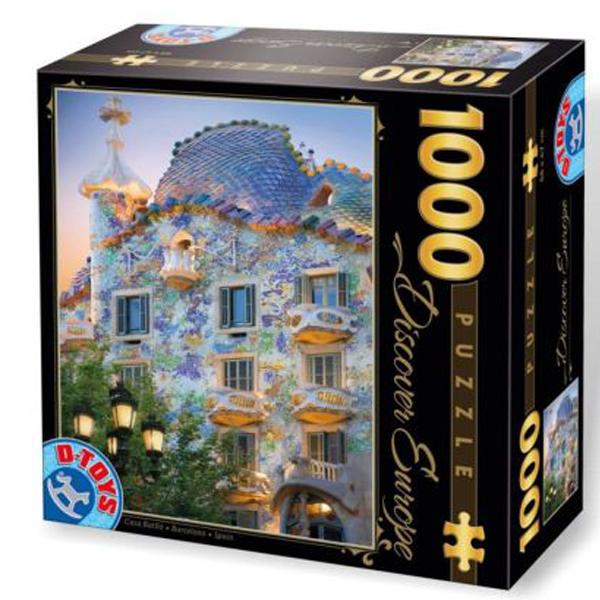 DToys puzzleCasa Batlo by Antoni Gaudi 1000pcs 07/65995-04 - ODDO igračke