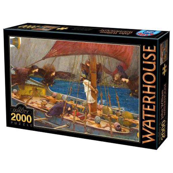 DToys Waterhouse John William Ulysses and the Sirens 2000pcs 07/72917-01  - ODDO igračke