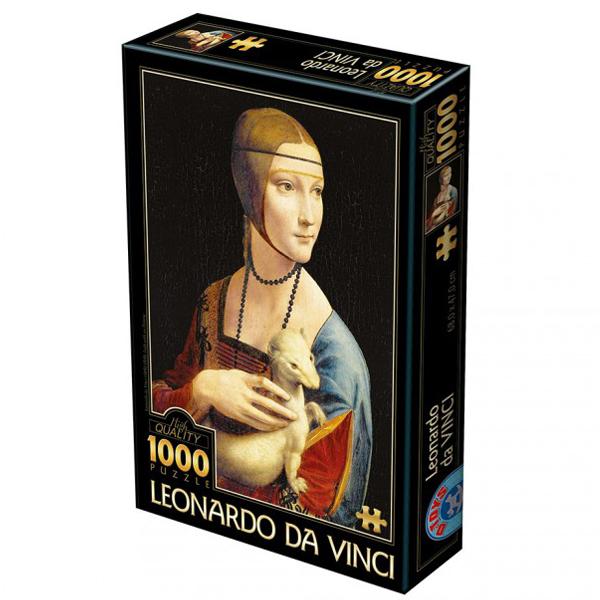 DToys puzzle Leonardi da Vinci Lady with an ermine 1000pcs 07/72689-02 - ODDO igračke