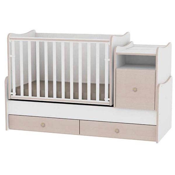 Drveni Krevetac Trend Plus White-Oak 10150400029 - ODDO igračke