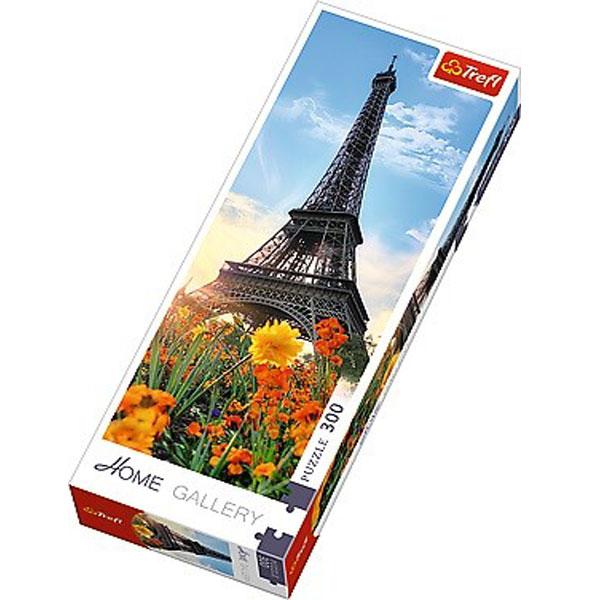 Trefl Puzzla The Eiffel tower among flowers 300 panorama 75000 - ODDO igračke