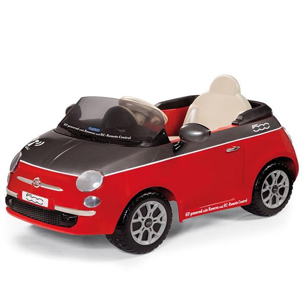 Automobil Fiat 500 na daljinski 6v Red-Grigia P75061163 - ODDO igračke