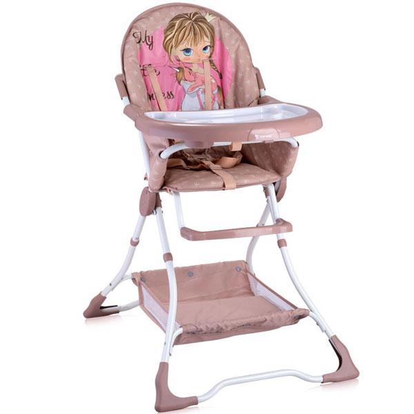 Stolica za hranjenje Bravo Beige & Rose Princess Bertoni 10100061703 - ODDO igračke