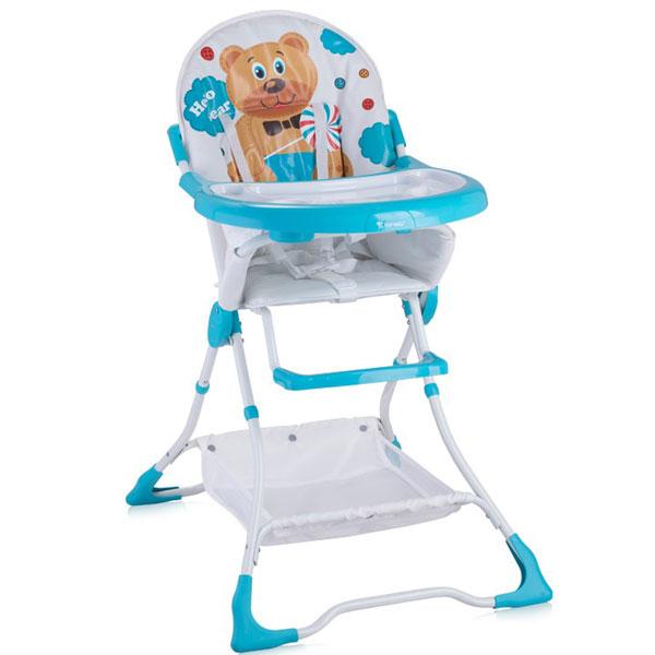 Stolica za hranjenje Bravo Blue Hello Bear Bertoni 10100061718 - ODDO igračke