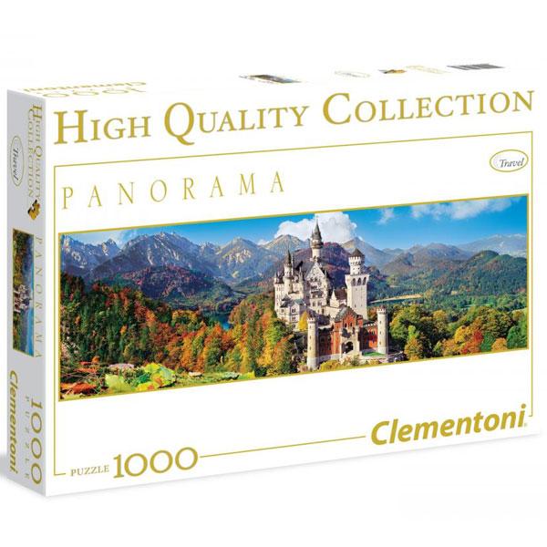 Clementoni Puzzla Panorama Neuschwanstein Castle 1000pcs 39283 - ODDO igračke
