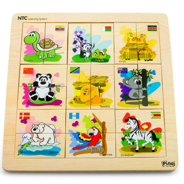 PINO NTC Asocijacije životinje 4P007A - ODDO igračke