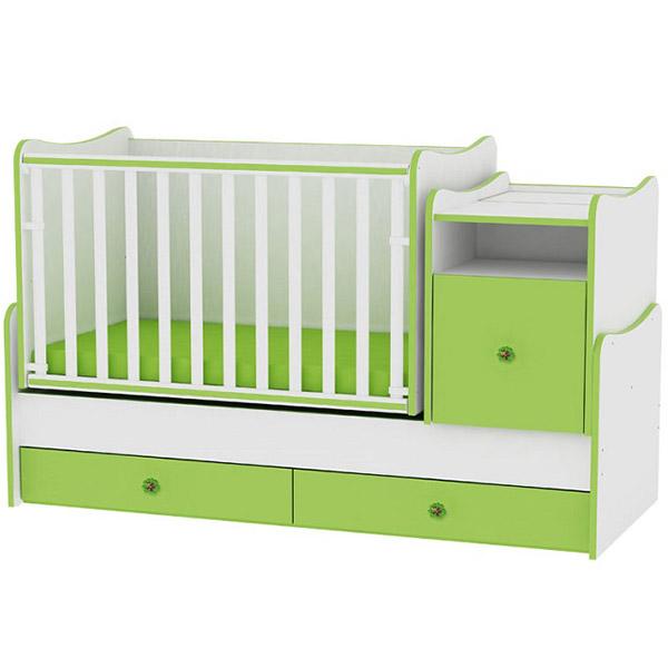 Drveni Krevetac Trend Plus - White-Green 10150400023 - ODDO igračke