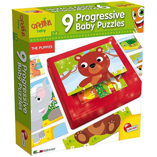 Edukativna slagalica baby Progressive Puppies Lisciani 58433 - ODDO igračke