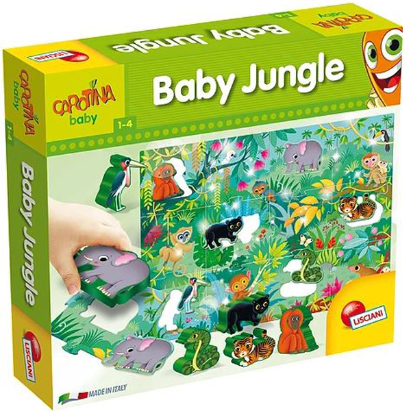 Edukativna slagalica baby Dzungla umetaljke Lisciani 58471 - ODDO igračke