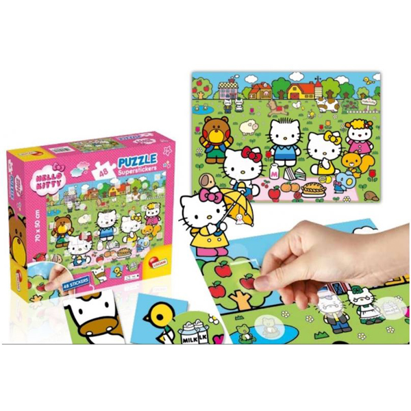 Slagalica 48pcs Superstikeri Hello Kitty Lisciani 60818 - ODDO igračke