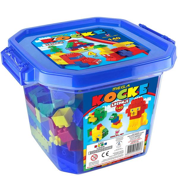 Mega kocke S box 140pcs 3950957 - ODDO igračke