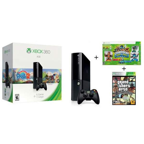 XBOX360 Console Slim 4GB Stingray + Peggle 2 + GTA SA + Skylanders SWAP Force Starter Pack 027581 - ODDO igračke
