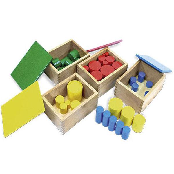 Kutije sa cilindrima Montesori HTS0045 - ODDO igračke