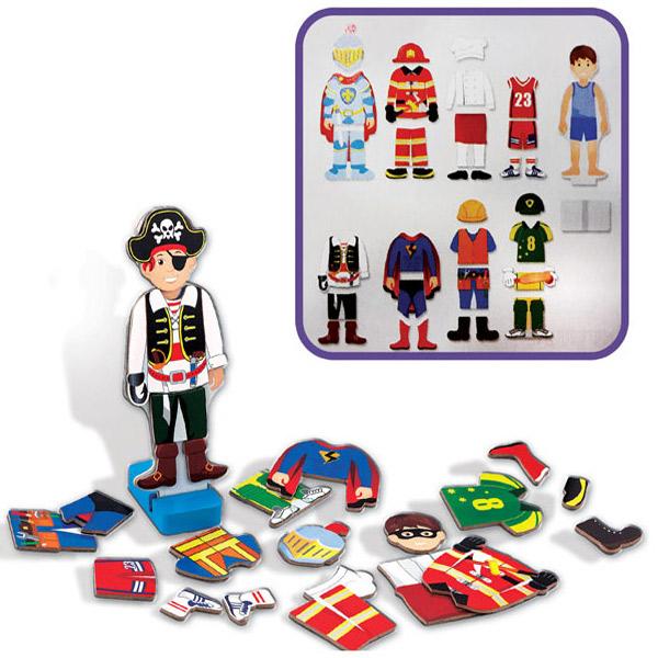 Viga Drveni Set - Magneti Obuci Dečaka 50021VG - ODDO igračke