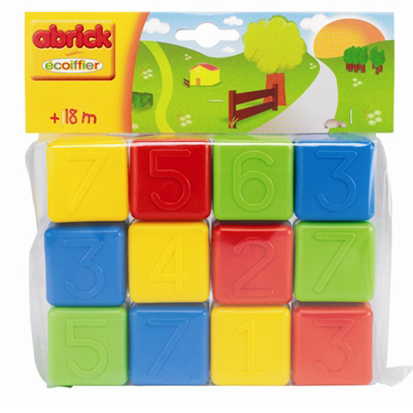 Ecoiffier Abrick Kocke sa Brojevima SM000404  - ODDO igračke