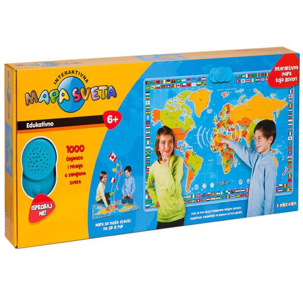 interaktivna karta sveta za decu Akcija | ODDO igračke interaktivna karta sveta za decu