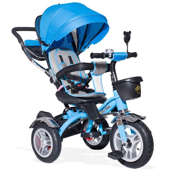 Tricikl sa ručkom i tendom i rotirajućim sedištem model 408 - ODDO igračke