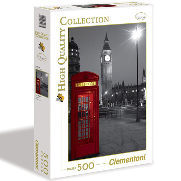 Clementoni Puzzla London Phone Box 500 pcs 30263 - ODDO igračke