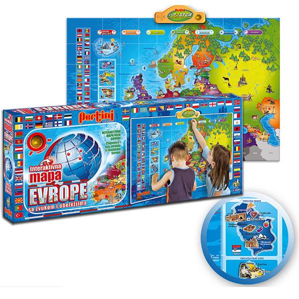 interaktivna mapa sveta za decu Elektronska Mapa Evrope P 0239 | ODDO igračke interaktivna mapa sveta za decu