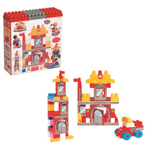Vatrogasni set kocke DEDE 65pcs 032543 - ODDO igračke