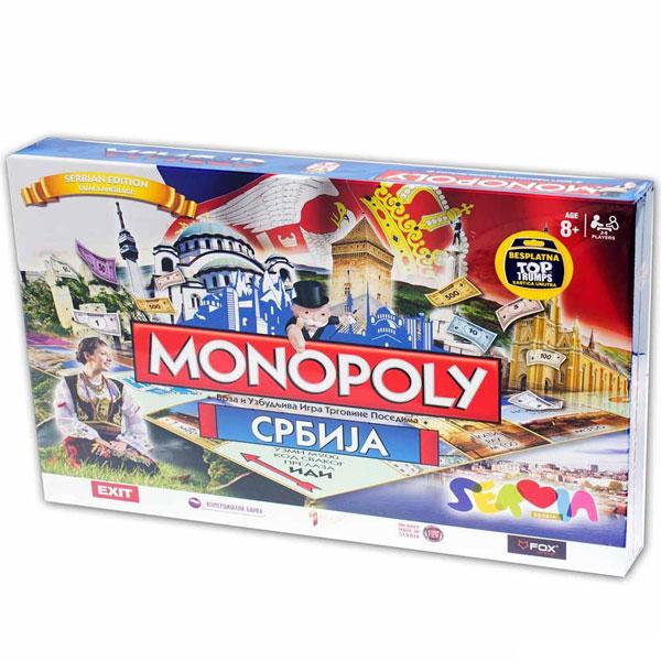 Monopol društvena igra Srbija ćirilica WM1304 - ODDO igračke