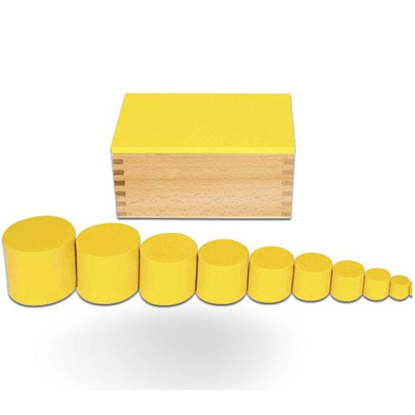 Kutije sa cilindrima žuta Montesori HTS0045Y - ODDO igračke