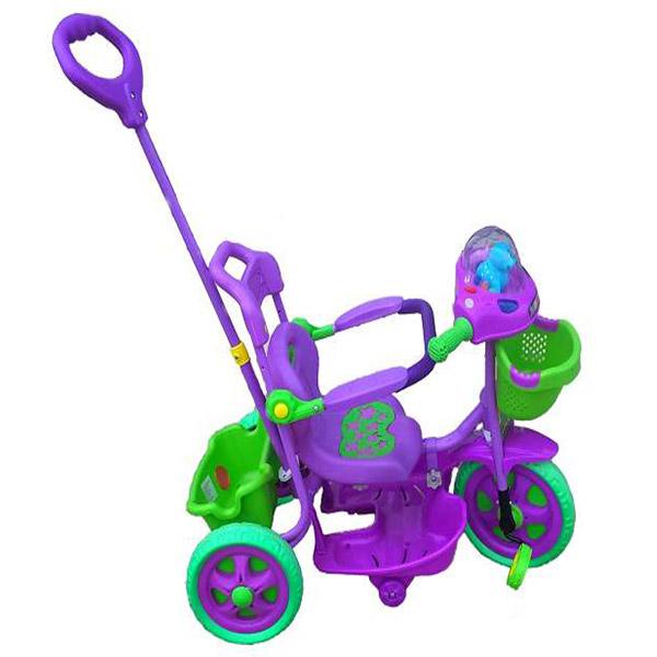 Tricikl sa ručkom i korpom Ljubičasto-zeleni 0139686r - ODDO igračke