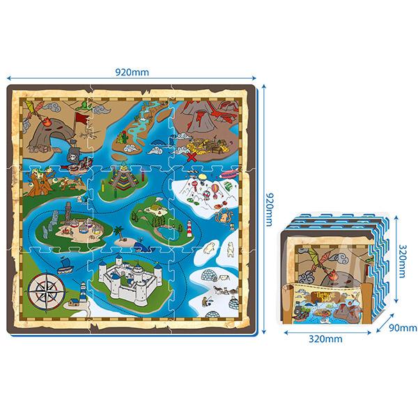 Puzzle Mapa sa Blagom PZ30197 - ODDO igračke