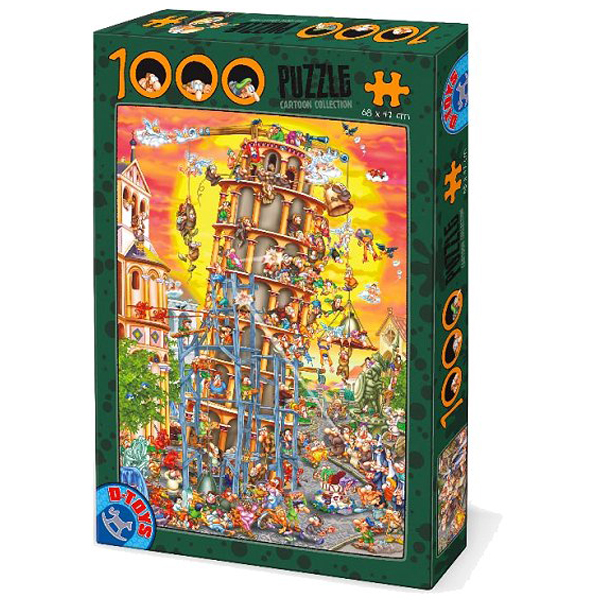 DToys puzzla Cartoon collection Tower of Pisa 1000pcs 07/61218-01 - ODDO igračke