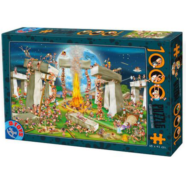 DToys puzzla Cartoon Collection  Building Stonehenge 07/61218-02 - ODDO igračke