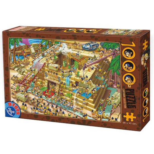 DToys puzzla Cartoon Collection  Building Pyramids in Egypt 07/61218-03 - ODDO igračke