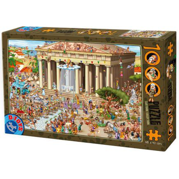 DToys puzzla Cartoon Collection Acropolis Greece1000pcs 07/61218-04 - ODDO igračke