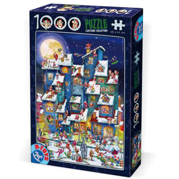 DToys puzzla Cartoon Collection Christmas Mess 1000pcs 07/61218-07 - ODDO igračke