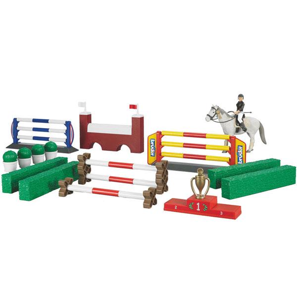 Prepone i prepreke za konje sa figurom konja i figura Bruder 625306 - ODDO igračke