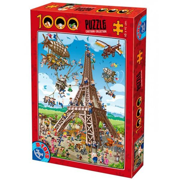 DToys puzzla Cartoon Collection Building the Eiffel Tower 1000pcs  07/61218-11 - ODDO igračke