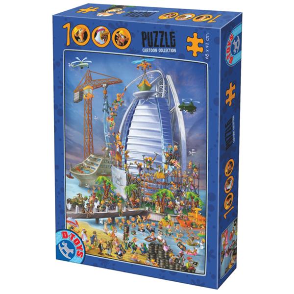 DToys puzzla Cartoon Collection Building the Burj Al Arab 1000pcs 07/61218-12 - ODDO igračke