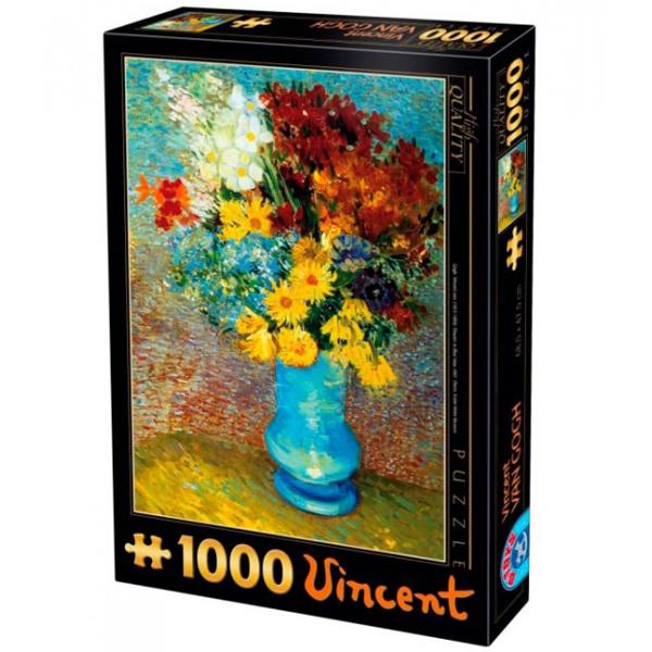 DToys puzzla Van Gogh Flowers in a blue vase 1000pcs 07/66916-02 - ODDO igračke