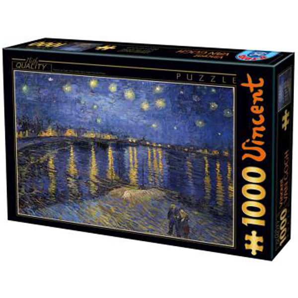 DToys puzzla Van Gogh Starry Night Over the Rhone 1000pcs 07/66916-11 - ODDO igračke