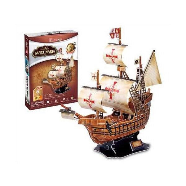 3D PUZZLE BROD SANTA MARIA P180 - ODDO igračke