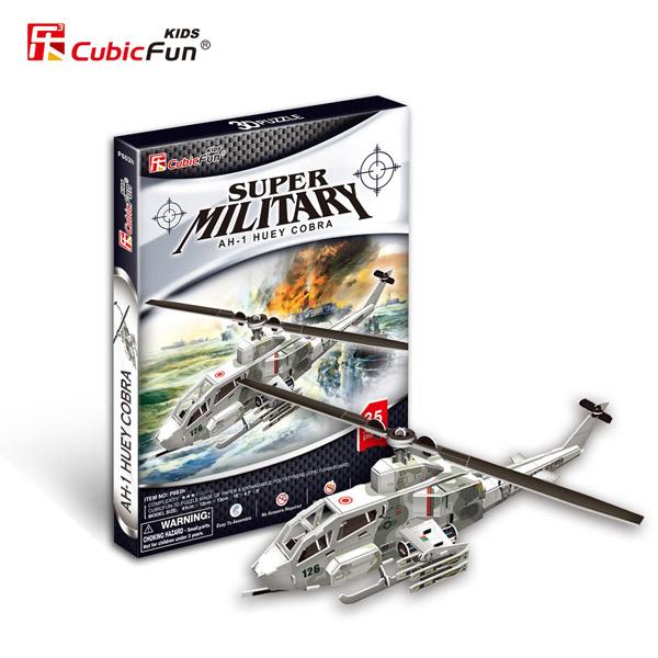 3D puzzle Vojni Helikopter 58100 - ODDO igračke