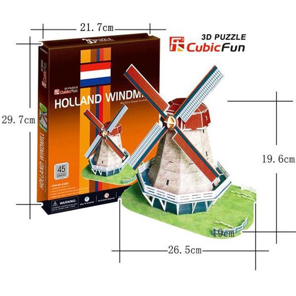 3D PUZZLE HOLANDSKA VETRENJAČA P176 - ODDO igračke